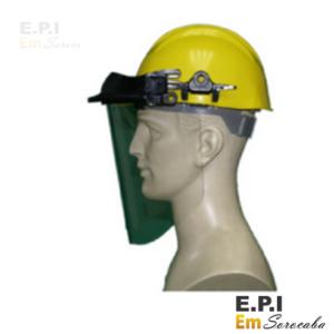 Proteção facial para capacete